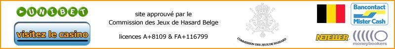 Unibet est approuvé par la Commission des Jeux de Hasard Belge